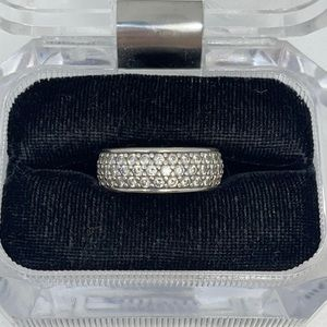 925 Sterling Silver Cubic Zirconium Women's Ring 9